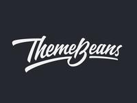 ThemeBeans theme lettering logo calligraphy hand-writing brand logotype design