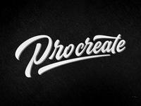 Procreate lettering logo brand logotype typography