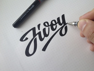 Jivoy(Live) branding lettering logo calligraphy hand-writing brand logotype pencil typography marker sketch