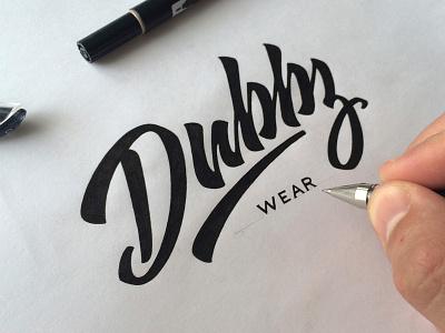 Dubbz Wear леттеринг dubbz lettering logo calligraphy hand-writing brand logotype t-shirts
