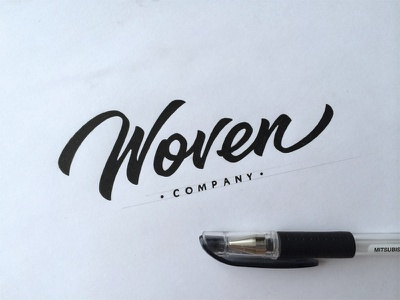 Woven lettering logo calligraphy hand-writing brand logotype леттеринг логотип каллиграфия