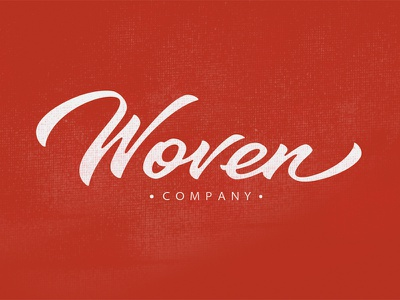 Woven logo lettering typography logotype hand-writing woven каллиграфия леттеринг red