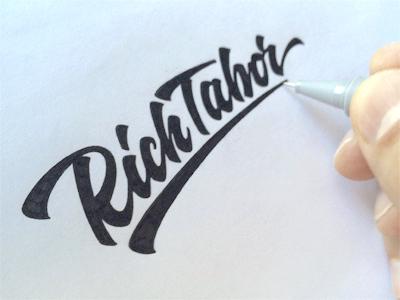 RichTabor lettering logo calligraphy hand-writing brand logotype tutov логотип леттеринг нейминг