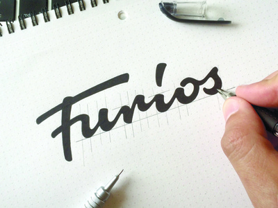 Furios guitar identity logotype type логотип леттеринг typography brand hand-writing logo lettering