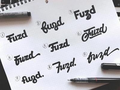 Fuzd  app branding identity logotype type логотип леттеринг typography brand hand-writing logo lettering