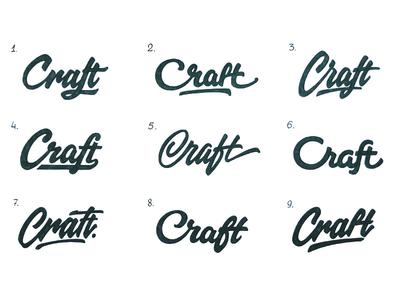 Craft ( Difficult choice ) sketch branding identity logotype type логотип леттеринг typography brand hand-writing logo lettering