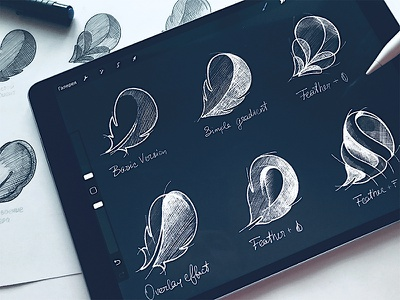 Flo - Icon Sketches sketch process icon identity logotype type логотип app brand hand-writing logo lettering
