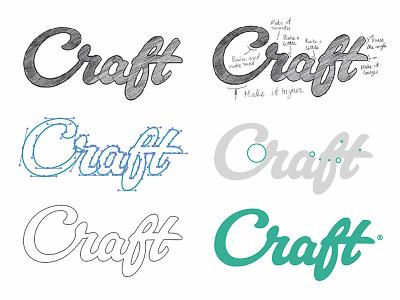 Craft process ✍🏼 sketch process icon identity logotype type логотип brand hand-writing logo lettering