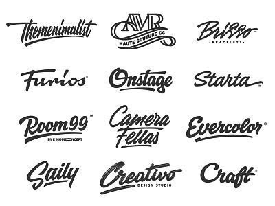 Logo Collection леттеринг process identity logotype type логотип brand hand-writing logo lettering