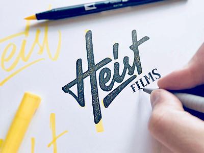 Heist (final sketch) logo lettering identity brand branding logotype sketch логотип леттеринг