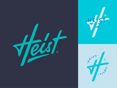 Heist Films логотип typography process mark type logotype hand-written calligraphy branding brand lettering logo