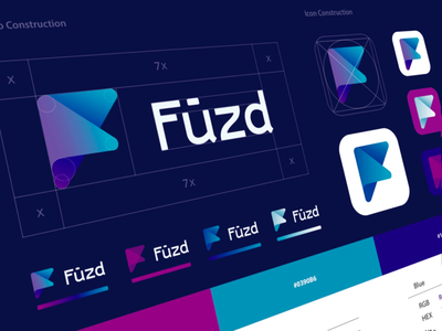 Fuzd Branding wordmark typography type logo identity ios app logotype logo mark branding brand