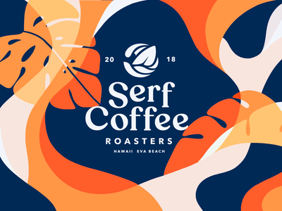 Branding for Serf Coffee Co illustration brand lettering typography logo logo type word mark logo mark graphic design coffee branding brand identity