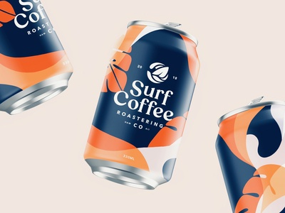 Packaging Design For Surf Coffee Co. Part 1