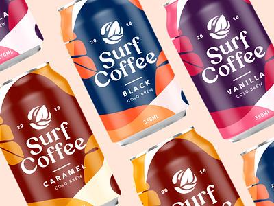 Packaging Design For Serf Coffee Co. Part 3 logo packaging coffee brand design brand identity branding logomark logotype wordmark typography lettering illustration brand label inspiration