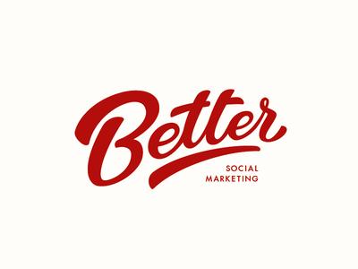 Better better red logo typography calligraphy lettering brand design marketing