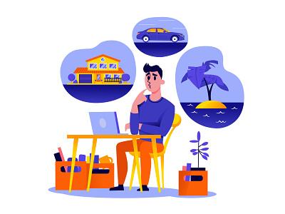 Vector illustration for web office character design affinitydesigner web illustration art procreate illustrator vectorart vector web illustration illustration