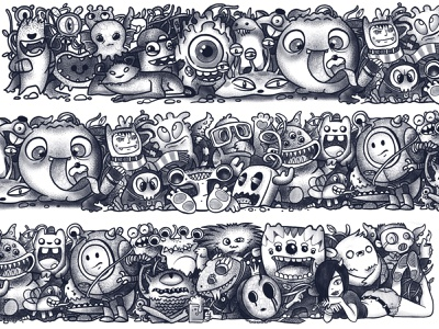 behance header doodle illustration monster art procreate art character doodleart doodles doodle procreate illustrations illustration