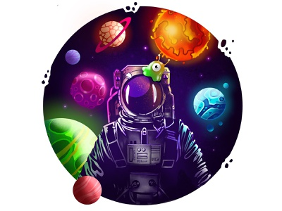 Spaceman doodles drawing cartoon procreate art monster logos illustration art procreate logodesign illustrations doodleart doodles doodle
