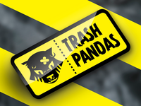 "Trash Pandas (Punk Band) - ""Garbage Sticker"" logo demo"