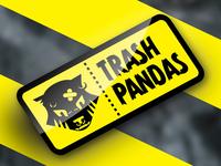 """Trash Pandas (Punk Band) - """"Garbage Sticker"""" logo demo"""
