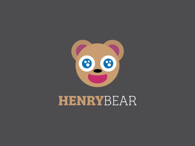 Henry Bear 🐻 adorable cute brother younger plaything toy cuddles animal stuffed teddy logotype logo