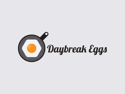 Daybreak Eggs Logo Concept design graphic icon yolk food fried breakfast font script logotype scrambled
