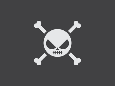 Skull And Crossbones Logo Design blackbeard nest crows halloween skellington jack flag icon graphic logotype skeleton pirates