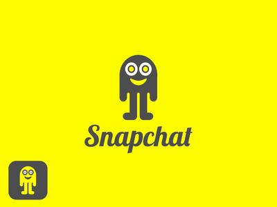 Snapchat Logo Redesigned (Version B) developer app icon snaps networking media social art concept graphic design branding rebrand logotype