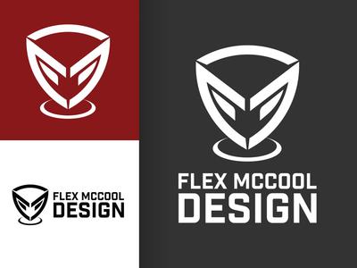 Flex McCool Design Rebrand (Personal Branding Update 2019) identity design brand mascot robot badge shield futuristic icon sci-fi gaming graphic design logotype design logo design