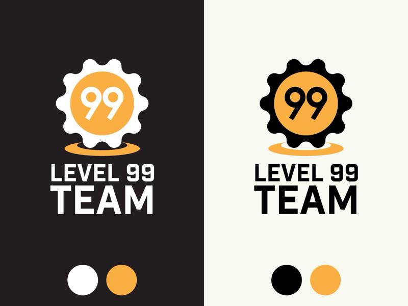 Vertical Logos for Level 99 Team dark mode alternate logo lockup game design game developer indie developer phone portrait mode logotype logo