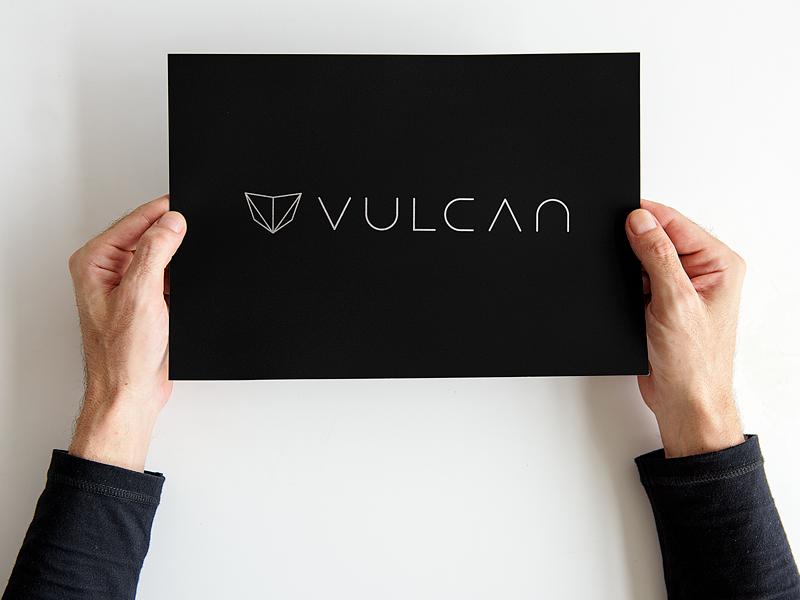 Vulcan mockup paper black