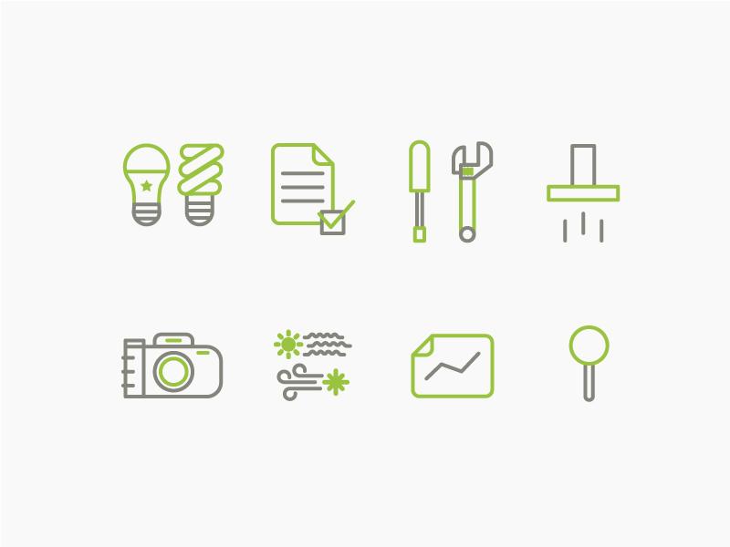 Homeworks Energy Icons energy icons code webdesign web graphicdesign logomark brandidentity branding logo