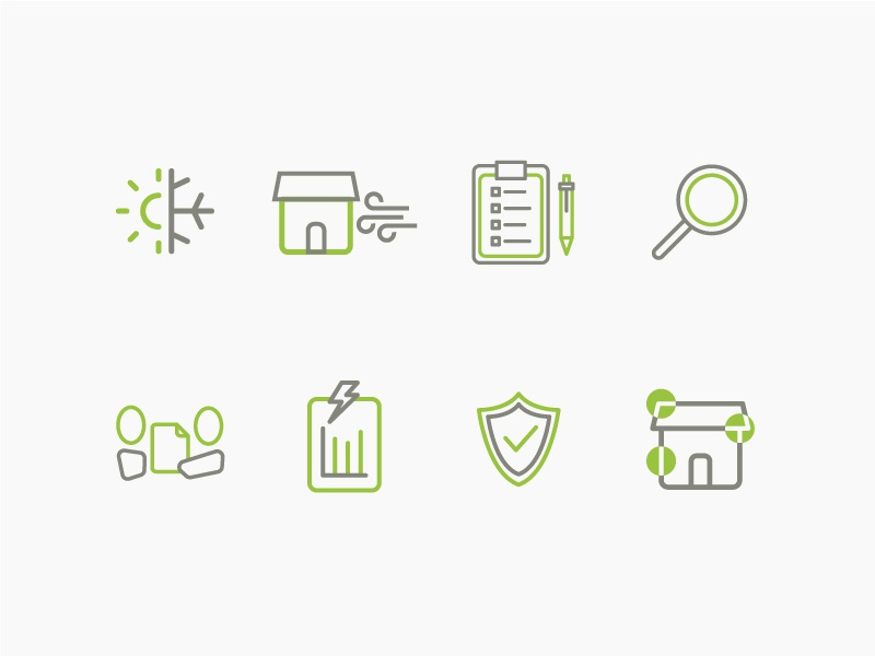 Homeworks Energy Icon Set 2 energy icons icon code webdesign web graphicdesign logomark brandidentity branding logo