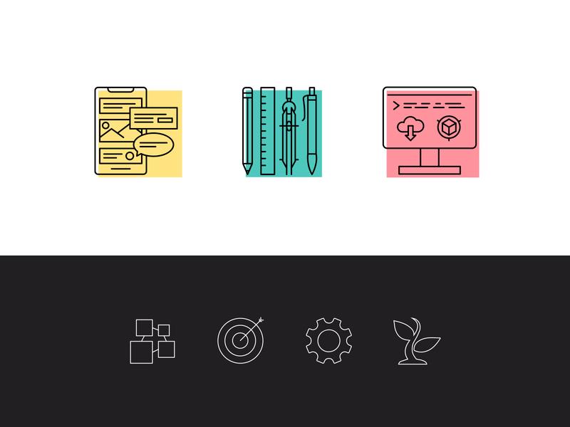 Vulcan Icon Set flat logo ui icon design illustration vector web graphicdesign branding