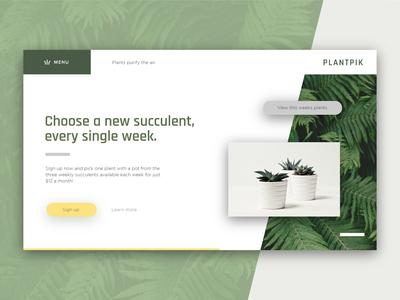Plantpik Daily UI 001