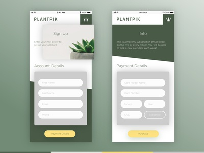 Plantpik Sign-Up Page Daily UI 002
