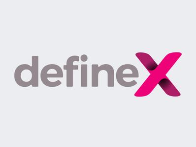 defineX logo graphic ux ui logo website branding typography illustration design tolga tasci