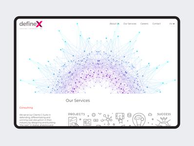 defineX website development webdesing design logo typography branding ux ui designer tolga tasci landingpage website definex