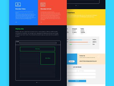 INTERESTING ENGINEERING ui ux landing page logo website branding typography illustration design tolga tasci