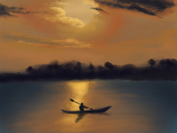 Sunset kayaking