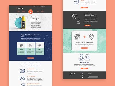 LiquidLab Landing Page landing page website graphic design web design