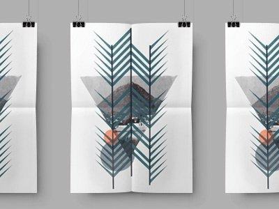 Mt. Woah Screen Print simple ink shapes poster color mountains triangles screen print
