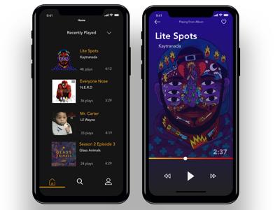 iPhone X Music Concept