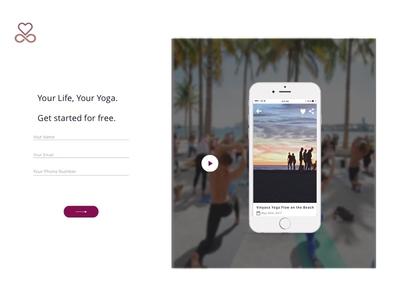 Youga App Sign Up