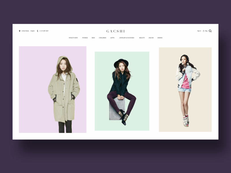 Fashion Website UI dailyui page webpage graphic uxdesign uidesign interaction design ux ui website fashion
