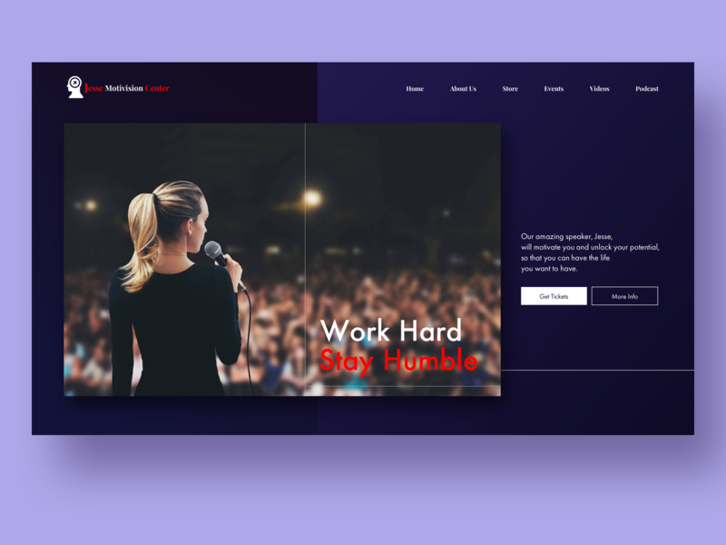 Motivational Speaker Website UI website concept dailyui webpage graphic uxdesign uidesign interaction ux ui