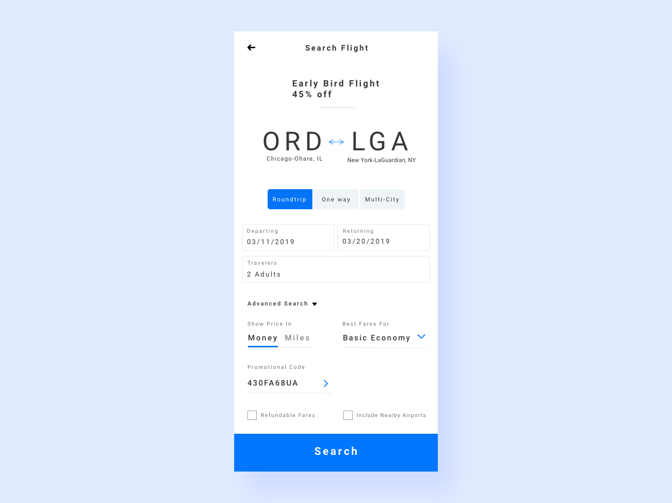 Flight Reservation UI uxdesign uidesign app interaction ux design ui reservation flight