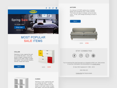 Email Design spring sale furniture ikea graphic dailyui app graphicdesign design email
