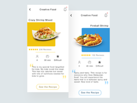 Creative Food Recipe App